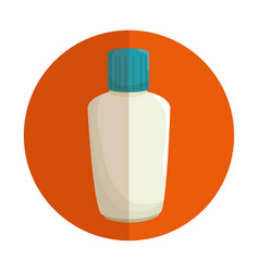 Plastic bottle blocker isolated icon vector
