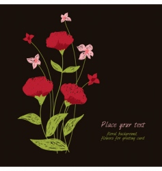 red flowers vector image vector image