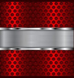 red perforated background vector image