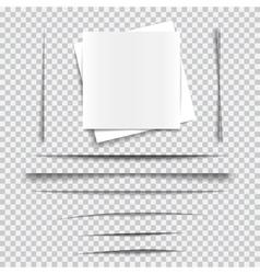 Set of transparent realistic paper shadow effects vector image vector image