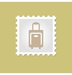 Traveling Bag stamp vector image