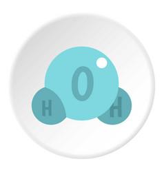 water molecule icon circle vector image vector image