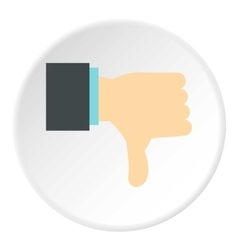 Gesture thumbs down icon flat style vector