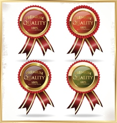 Premium quality golden label vector