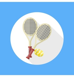 Tennis rackets and ball icon vector