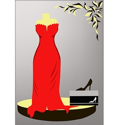 Evening dress vector