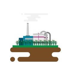 Concept of biofuels refinery plant for vector