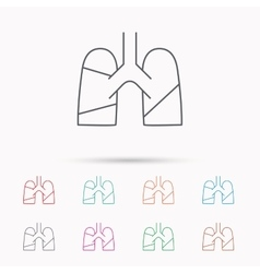 Lungs icon transplantation organ sign vector
