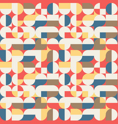 abstract geometric retro seamless pattern vector image vector image