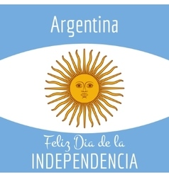 Argentina card independence day vector