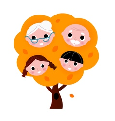 Autumn family tree vector image vector image