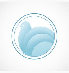 bird symbol vector image vector image