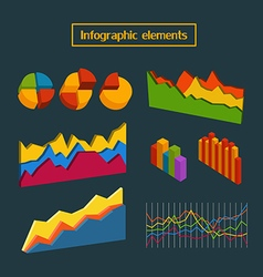 Different infographic elements collection clip-art vector image