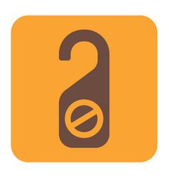Do not disturb door sign vector