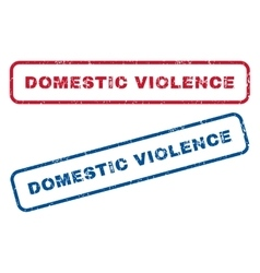 Domestic violence rubber stamps vector