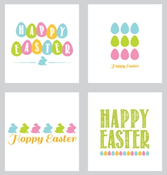 Easter greeting card pack brights vector