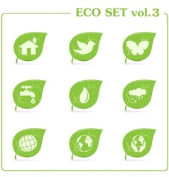 ecology icon set Vol 3 vector image vector image