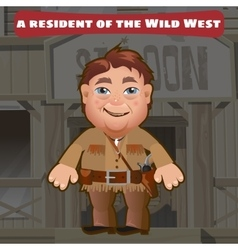 Fictional character a resident of the wild west vector
