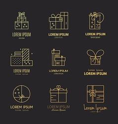 Gift boxes logo vector