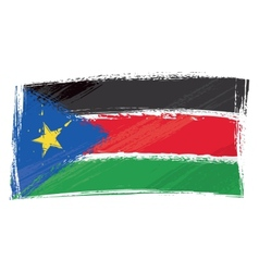 grunge south sudan flag vector image vector image