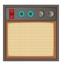 Guitar amplifier icon cartoon style vector