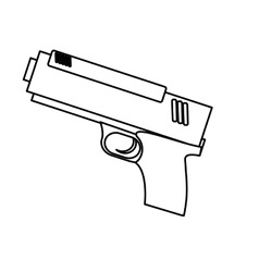 handgun weapon icon image vector image