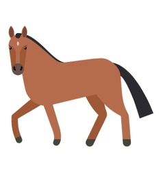 Horse flat icon vector