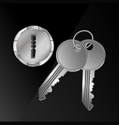 Keys and keyhole vector