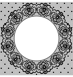 lace and napkin vector image