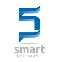 letter s combination 5 lettemark design vector image vector image