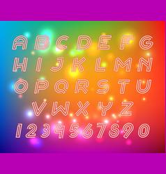 Line alphabet font letters set vector