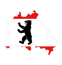 Map and flag of berlin vector