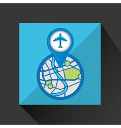 Mobile device airport gps map vector