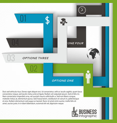 modern business infographics concept vector image