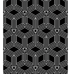 Monochrome abstract interweave geometric seamless vector image vector image