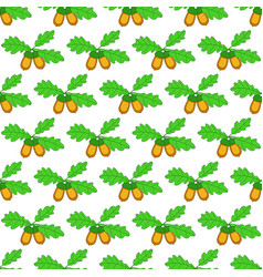 oak acorn pattern vector image