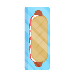 Packaged hot dog isolated icon vector