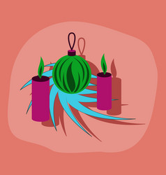 Paper sticker on stylish background christmas vector