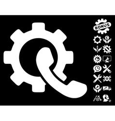 Phone configuration icon with tools bonus vector