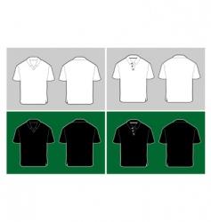 polo shirt template vector image