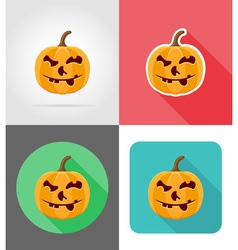 pumpkins for halloween flat icons 16 vector image vector image