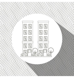 residential icon design vector image