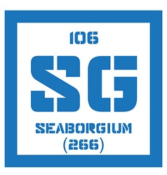 Seaborgium chemical element vector image