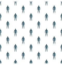 Seamless human background vector image
