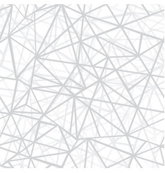 silver grey wire geometric mosaic triangles vector image vector image