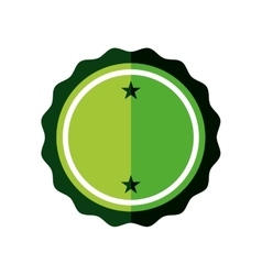 Sticker green badge empty icon vector