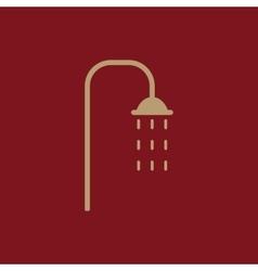 The shower icon Bathroom symbol Flat vector image vector image