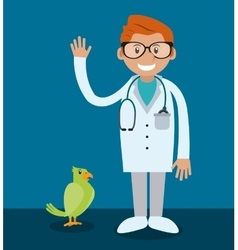veterinarian pet clinic icon vector image vector image