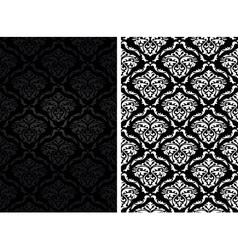 Vintage damask seamless backgrounds vector image vector image