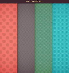 Wallpaper texture and patterns set vector